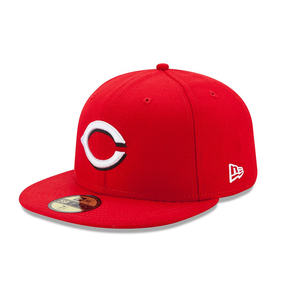 Cincinnati Reds Authentic On-Field Home 59FIFTY rouge