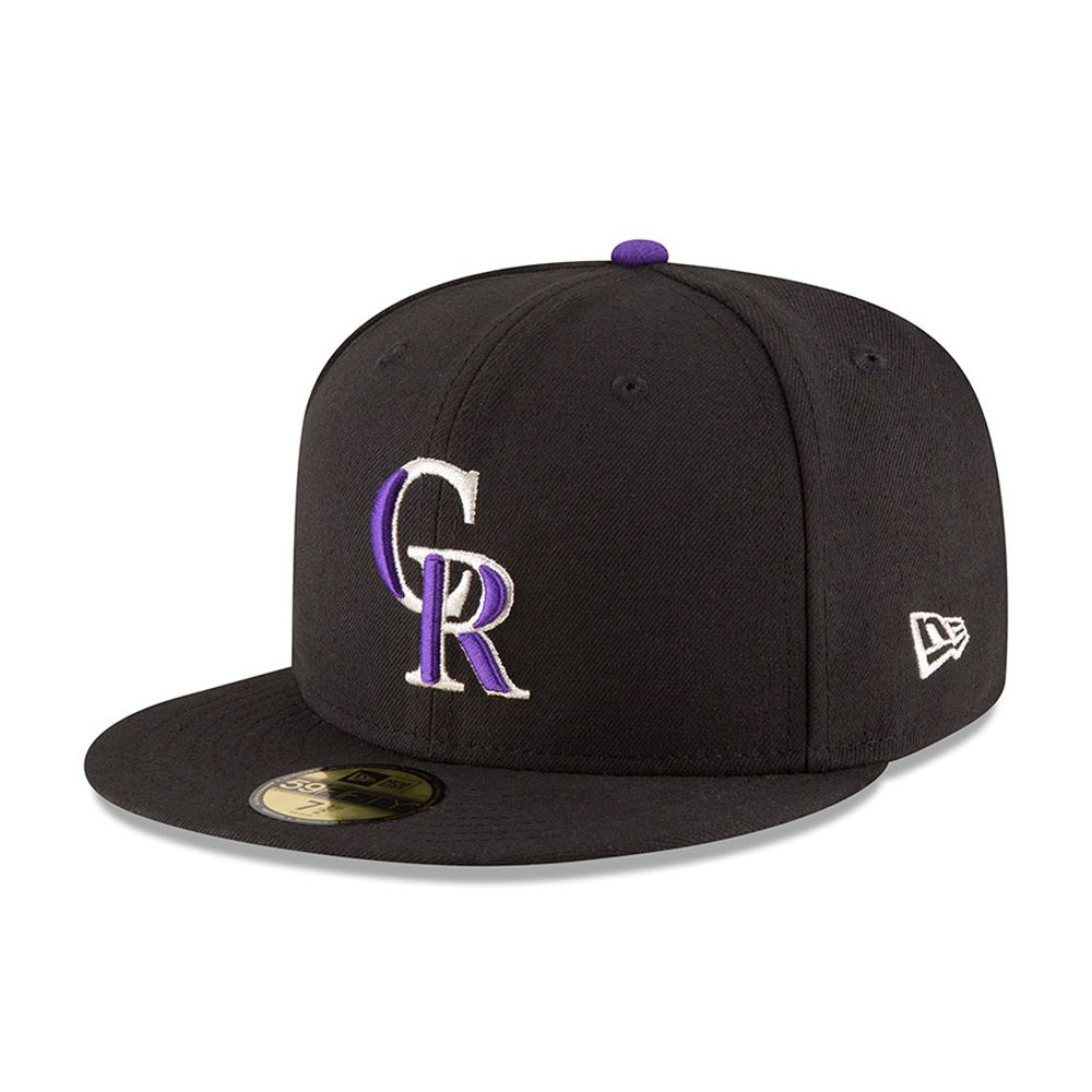 59FIFTY – Colorado Rockies – Authentic On-Field Game – Schwarz
