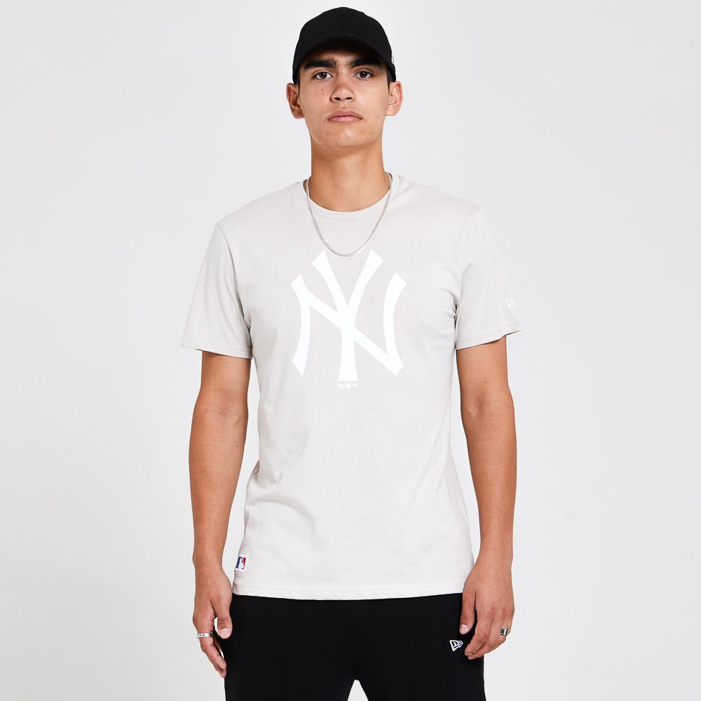 New York Yankees– Saisonales Team-T-Shirt in Steingrau