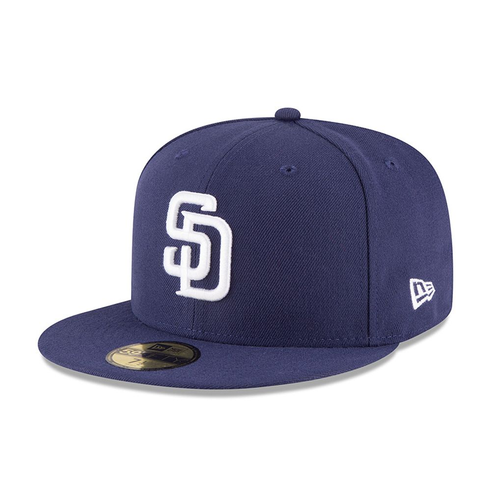 San Diego Padres Authentic On-Field Home Navy 59FIFTY 48bd216cd7c