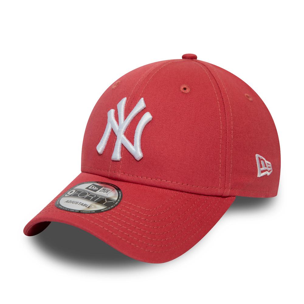 Casquette 9FORTY Essential des Yankees de New York couleur corail