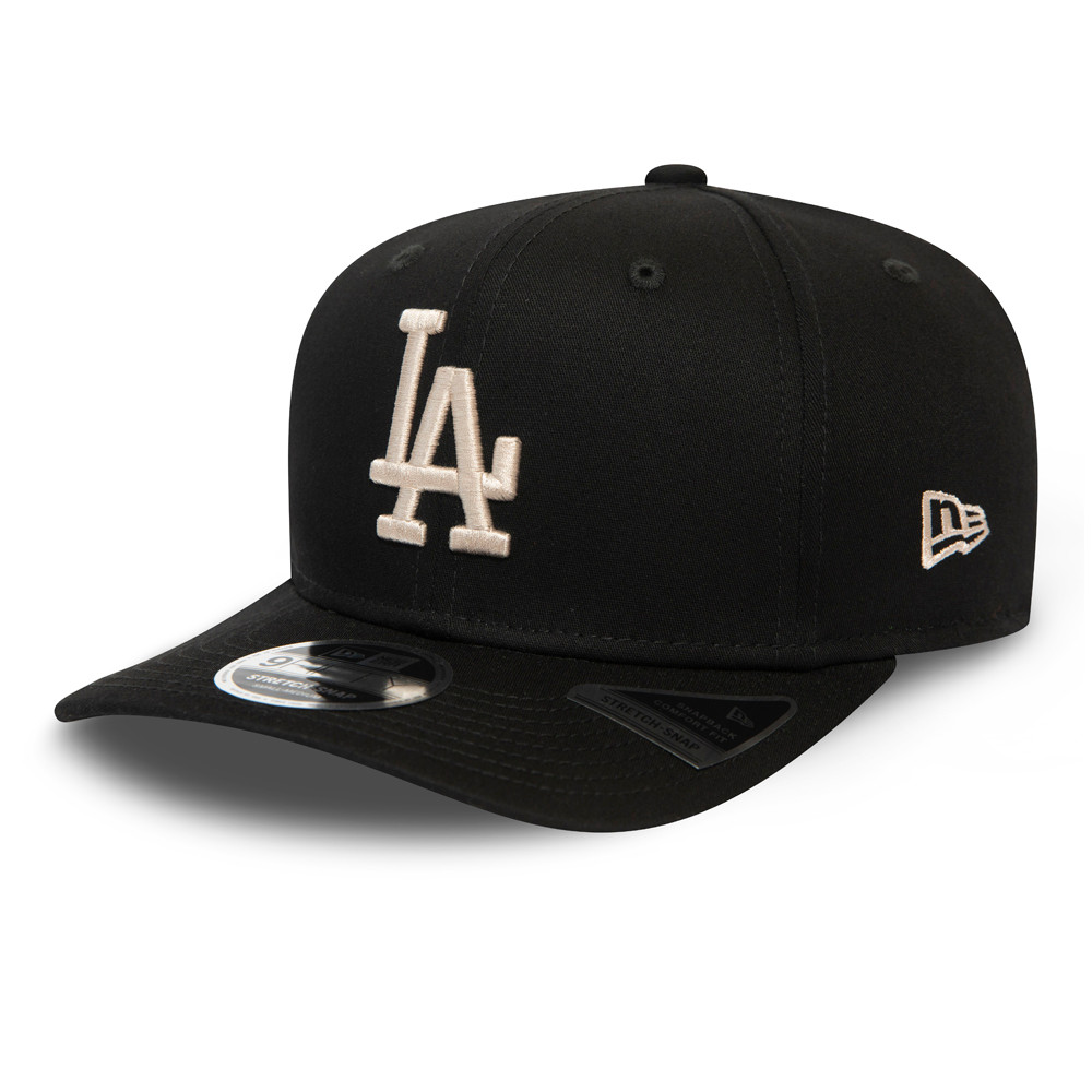 Los Angeles Dodgers Essential Black Stretch Snap 9FIFTY Cap