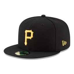 Pittsburgh Pirates On Field Game Black 59FIFTY Cap