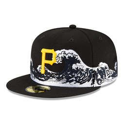 Casquette Pittsburgh Pirates 100 ans Wave 59FIFTY, noir