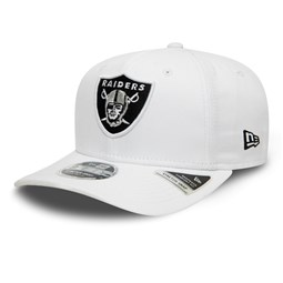 Las Vegas Raiders White Base Stretch Snap 9FIFTY Cap