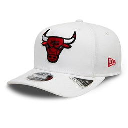 Chicago Bulls White Base Stretch Snap 9FIFTY Cap