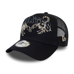 Pittsburgh Pirates Tech Fabric Script Navy Trucker