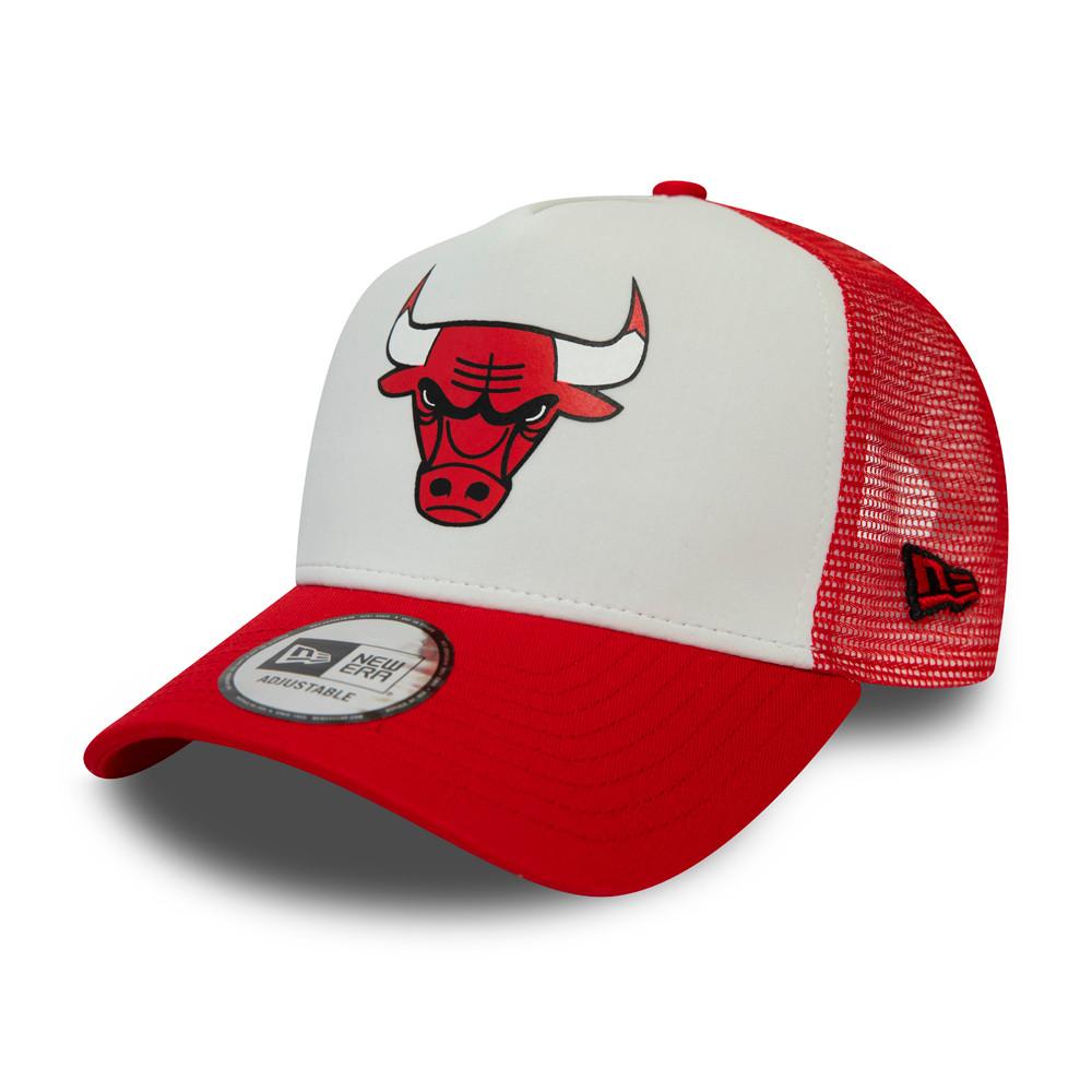 Chicago Bulls – Team-Truckerkappe im Farbblockdesign in Weiß