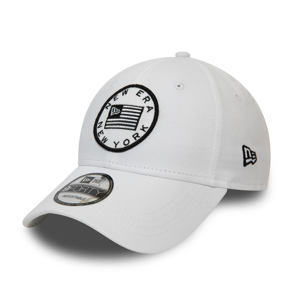 Gorra New Era USA Flag Heritage 9FORTY, blanco