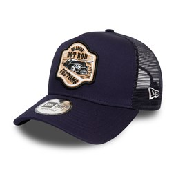 New Era Hot Rod Fabric Patch Navy Trucker