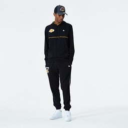 Los Angeles Lakers Piping Detail Black Joggers