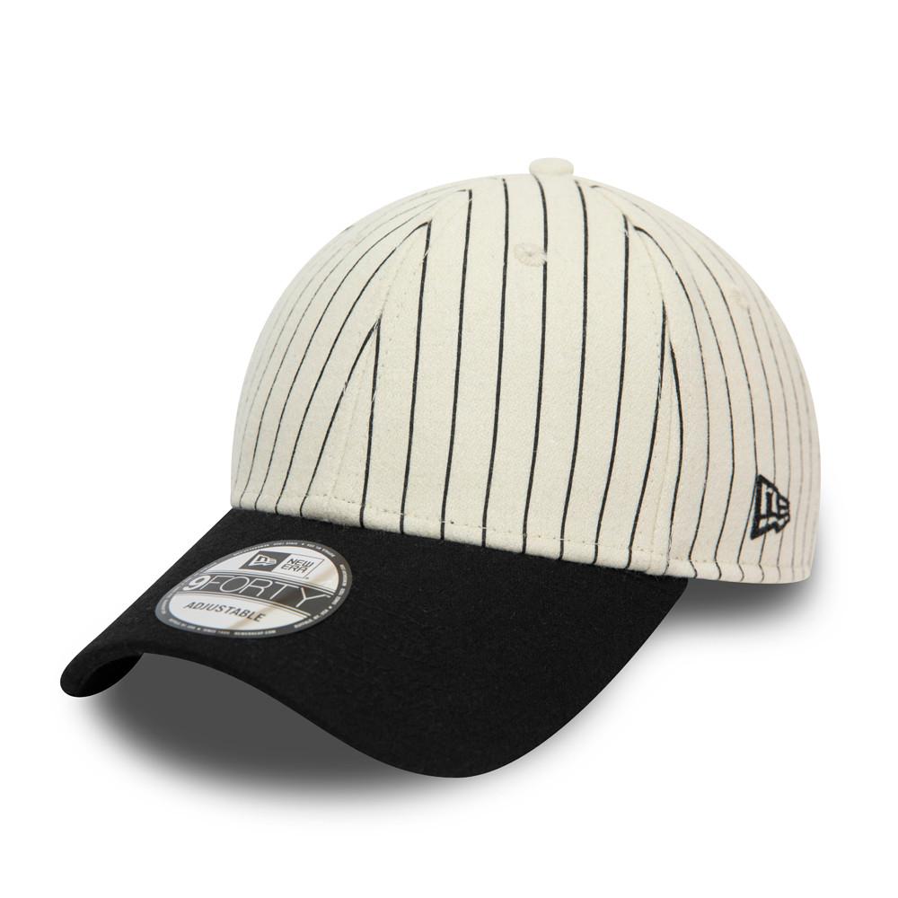 New Era Icon Striped White 9FORTY Cap