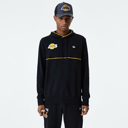 Los Angeles Lakers Piping Detail Black Hoodie