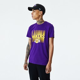 Los Angeles Lakers Faded Logo Purple T-Shirt