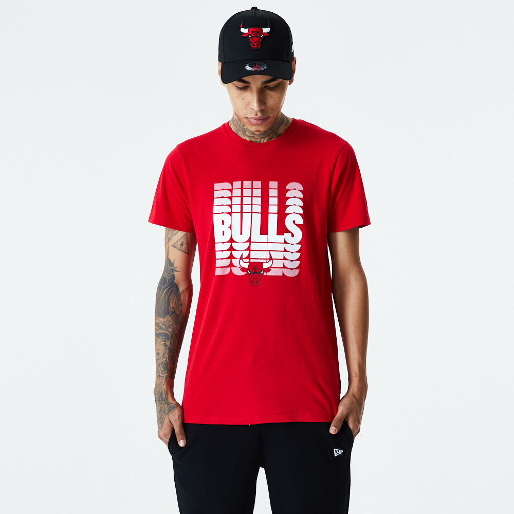 Chicago Bulls Faded Logo Red T-Shirt