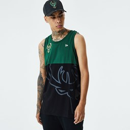 Milwaukee Bucks Colour Block Black Vest