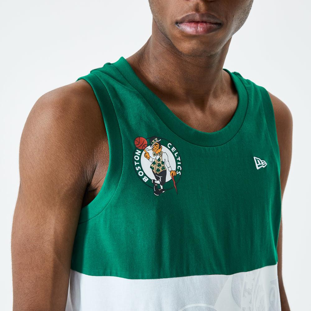 Débardeur blanc avec logo de coleurs contrastées des Celtics de Boston