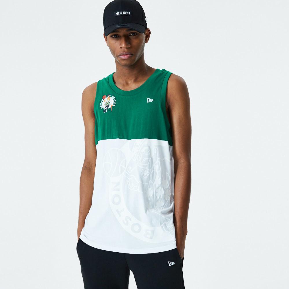 Canotta Boston Celtics a blocchi di colore con logo bianca