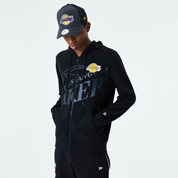 Los Angeles Lakers Big Logo Black Zip Hoodie