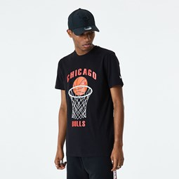 T-shirt noir basketball des Chicago Bulls