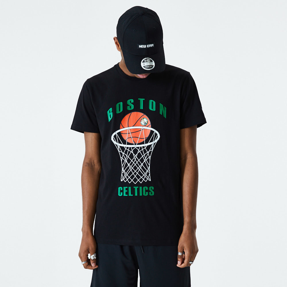 T-Shirt Boston Celtics Basketball nera