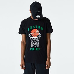 Boston Celtics – Basketball-T-Shirt in Schwarz