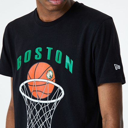 Boston Celtics Basketball Black T-Shirt