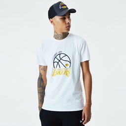 Los Angeles Lakers Graphic White T-Shirt