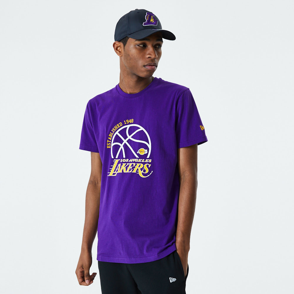 Los Angeles Lakers Graphic Purple T-Shirt
