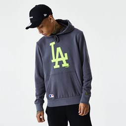 Los Angeles Dodgers Seasonal Team Green Logo Grey Hoodie
