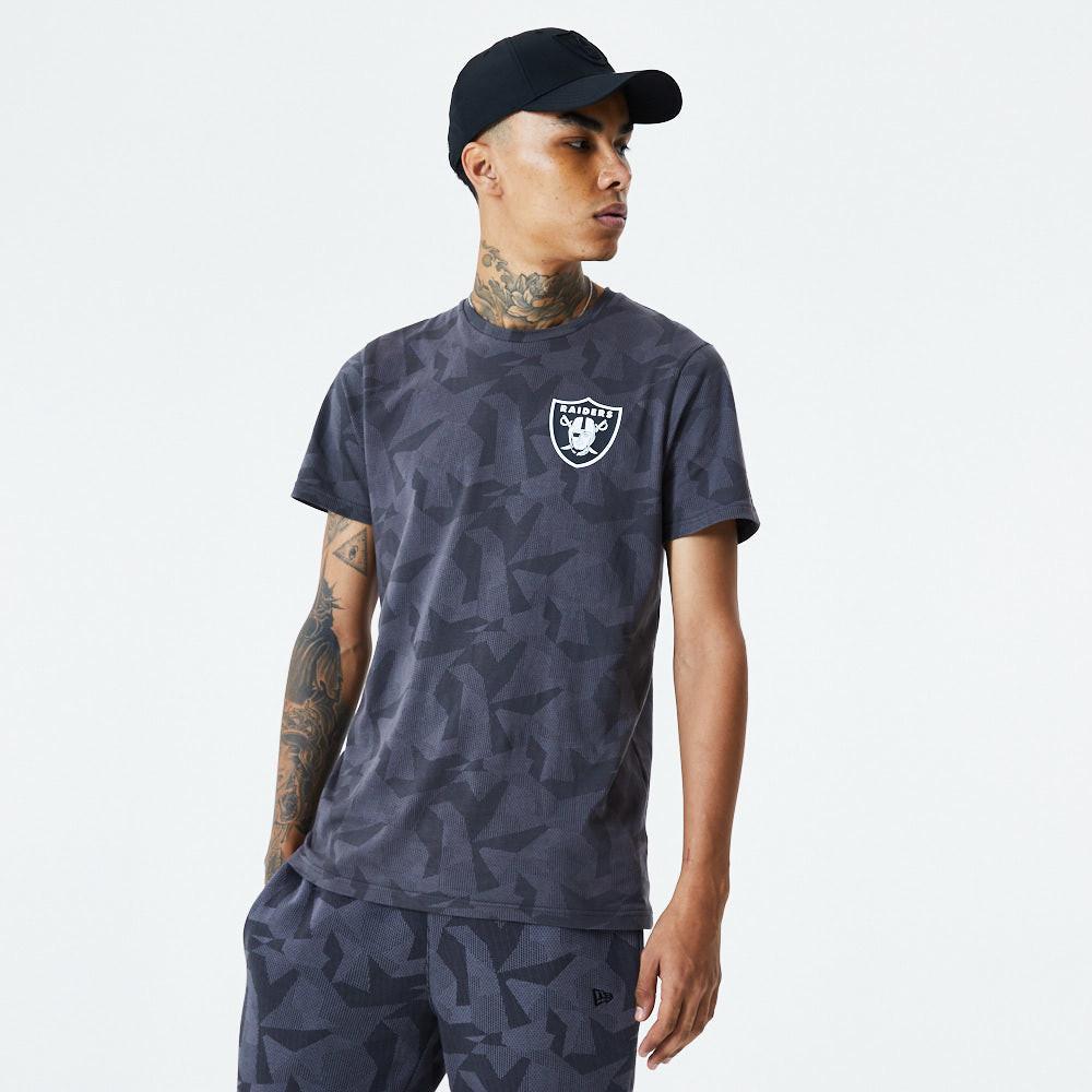 T-shirt camouflage géométrique des Raiders de Las Vegas, gris