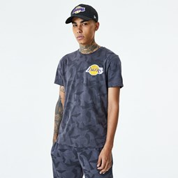 Los Angeles Lakers Geometric Grey Camo T-Shirt