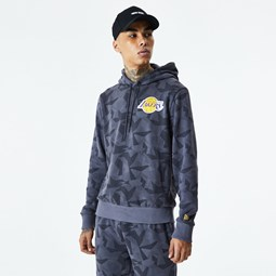 Los Angeles Lakers Geometric Grey Camo Hoodie