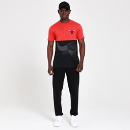 Chicago Bulls Colour Block Black T-Shirt