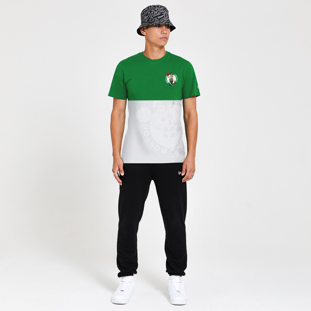 T-shirt Boston Celtics Colour Block bianca