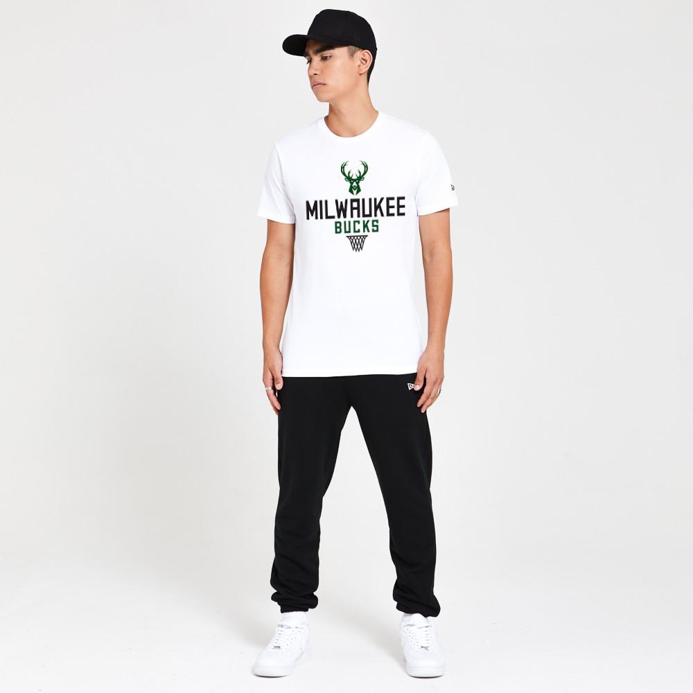 T-shirt Milwaukee Bucks Basket bianca