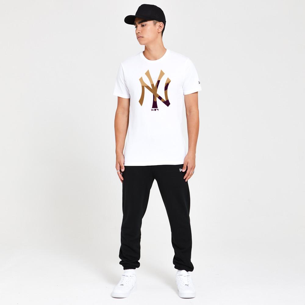 Camiseta New York Yankees Gradient Infill, blanco