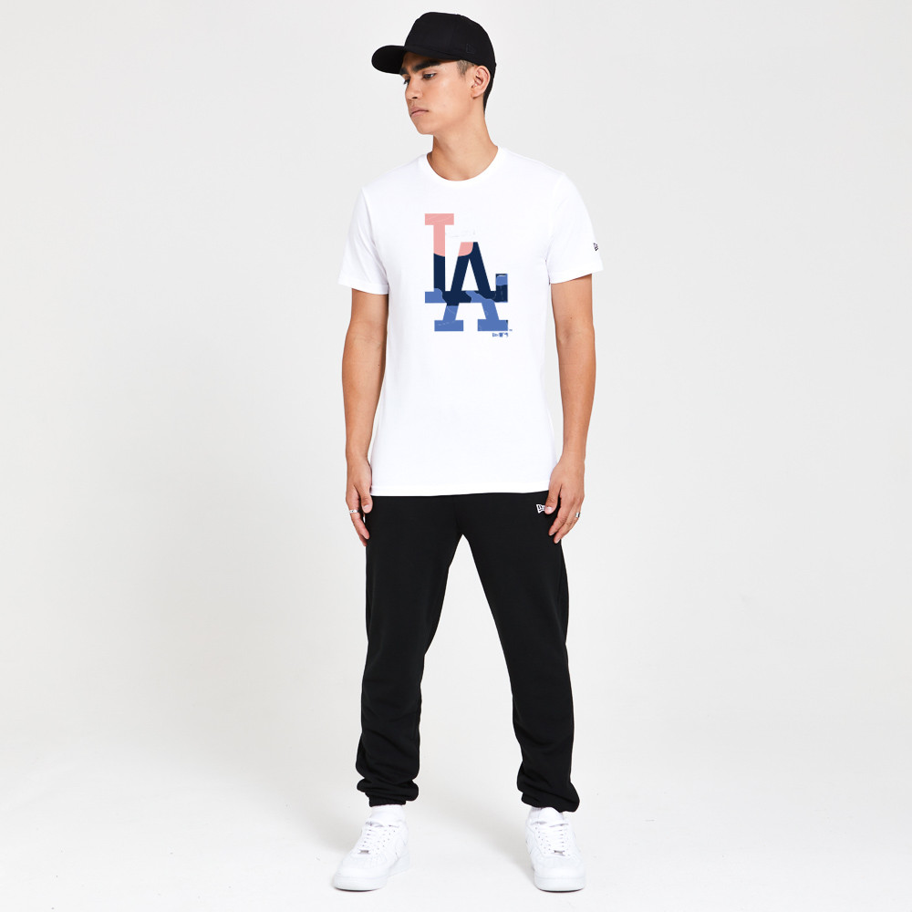 T-shirt Los Angeles Dodgers Gradient Infill bianca