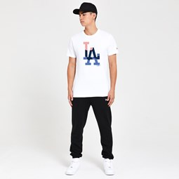 Los Angeles Dodgers Gradient Infill White T-Shirt
