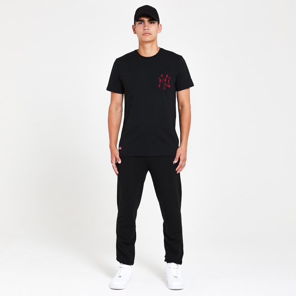 Camiseta New York Yankees Print, negro