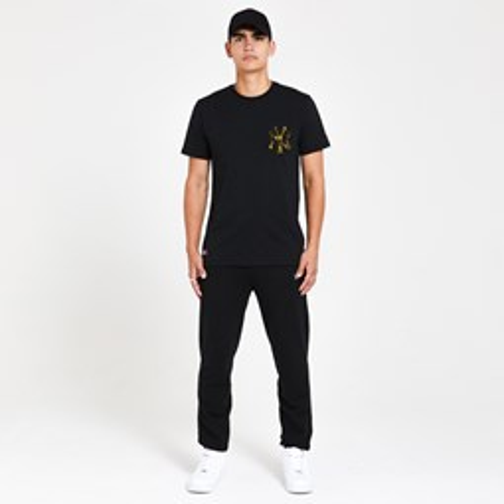 Camiseta New York Yankees Yellow Print, negro