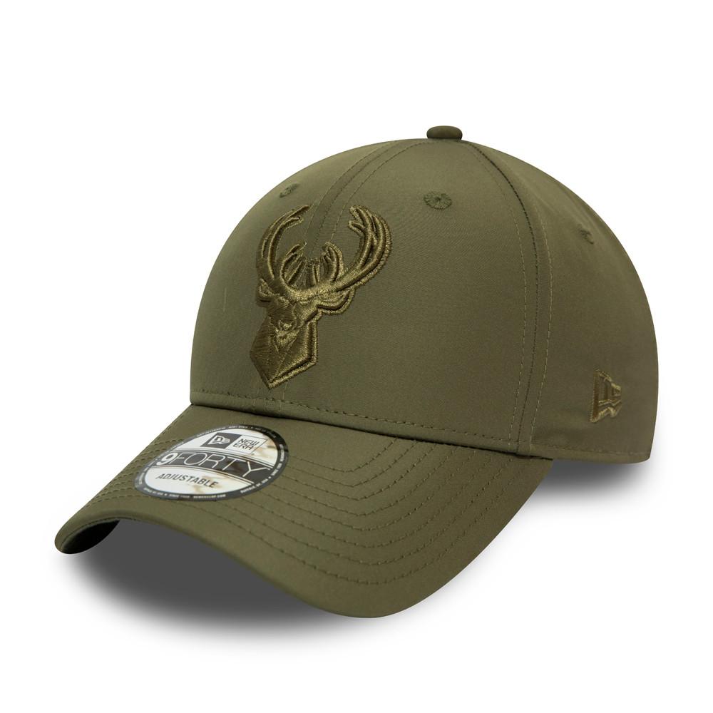 Cappellino Milwaukee Bucks Tonal Nylon 9FORTY verde