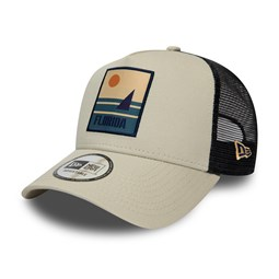 Trucker New Era Florida Location A-Frame grigio pietra