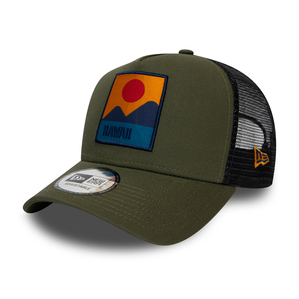 Trucker New Era Hawaii Location A-Frame verde