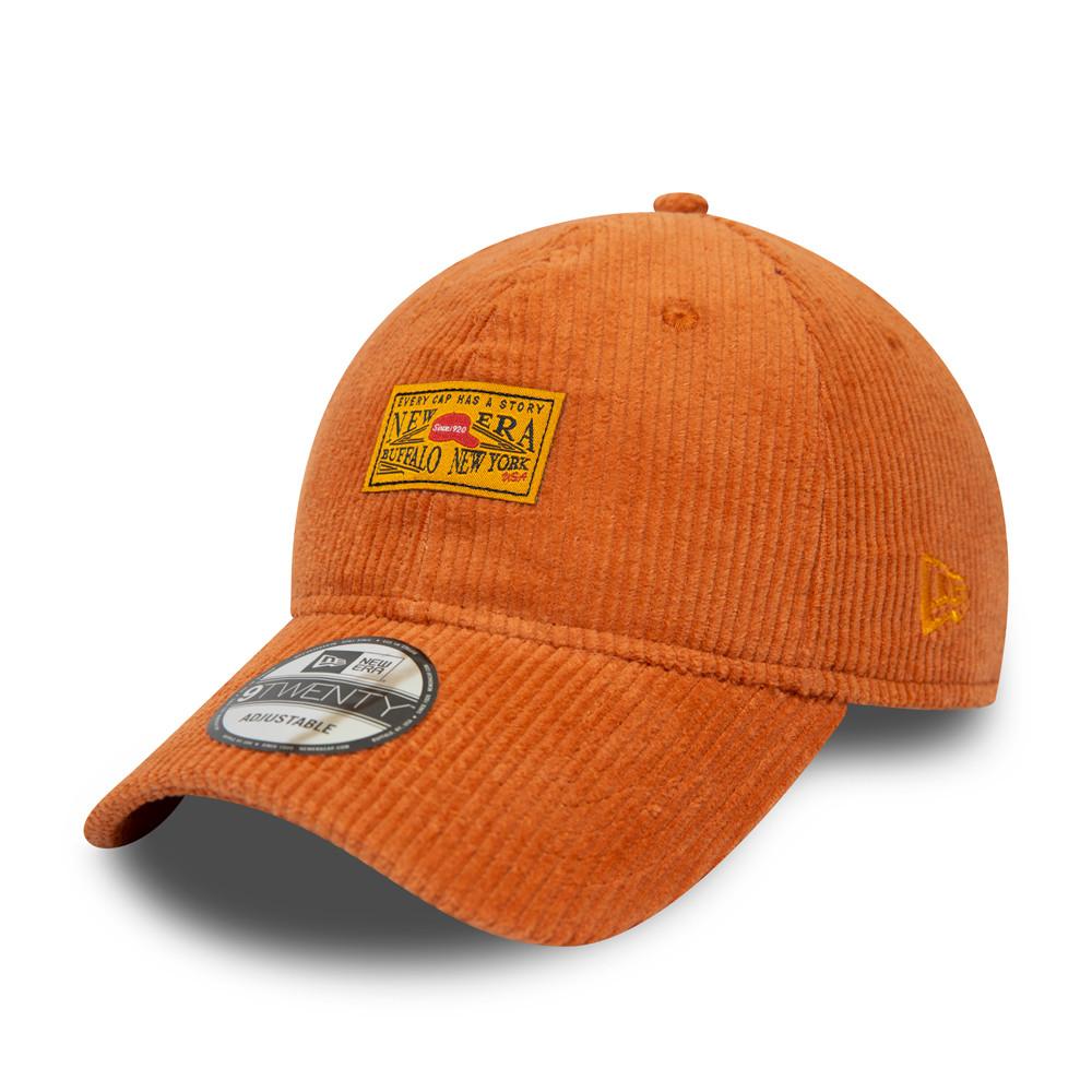 New Era Cord Patch Orange 9TWENTY Cap