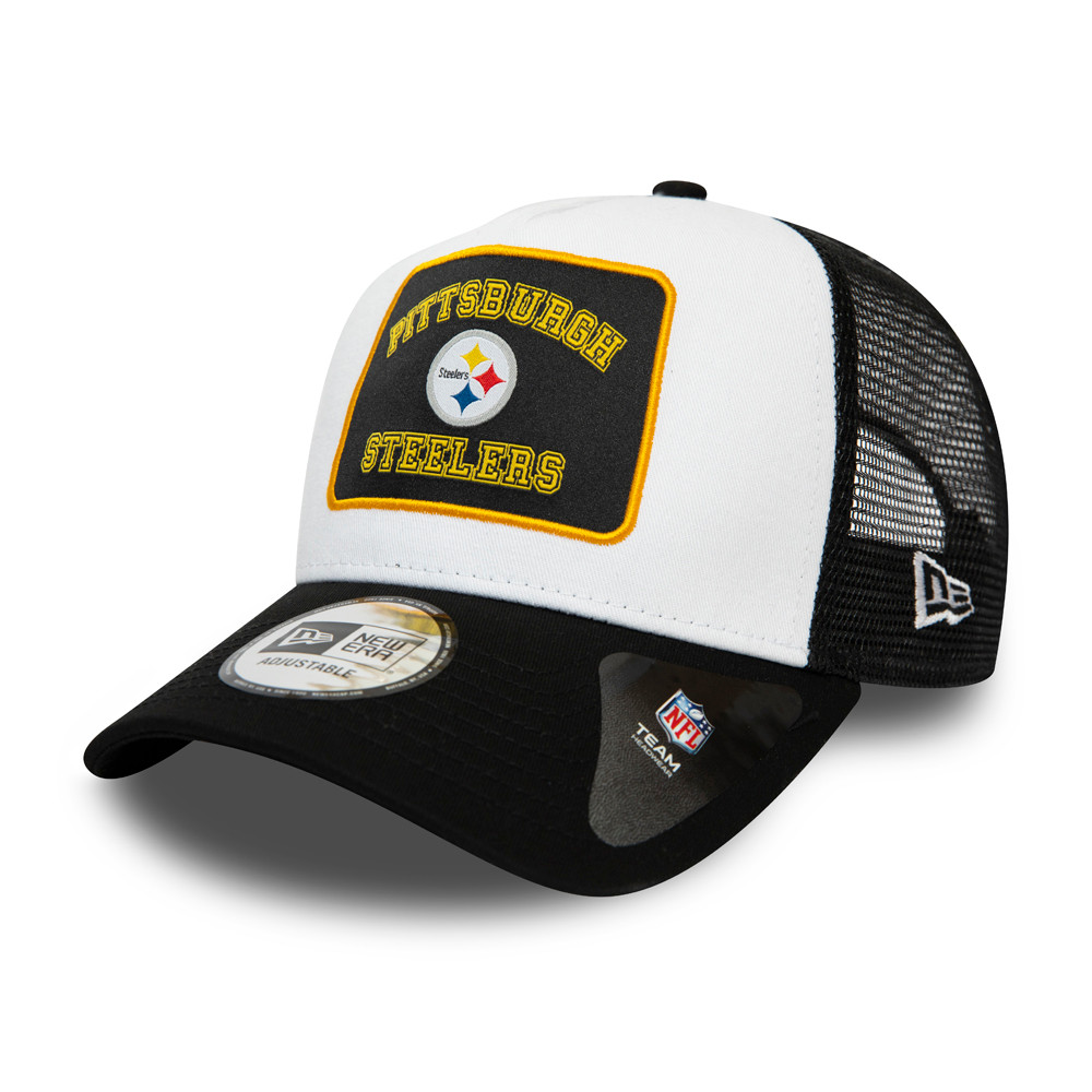 Pittsburgh Steelers Graphic Patch White A-Frame Trucker