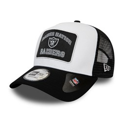 Las Vegas Raiders Graphic Patch A-Frame Trucker bianco