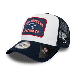 New England Patriots Graphic Patch White A-Frame Trucker