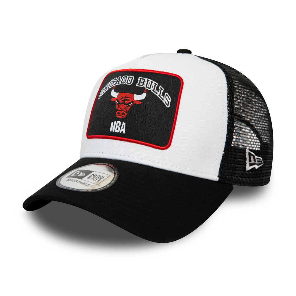Chicago Bulls Graphic Patch White A-Frame Trucker