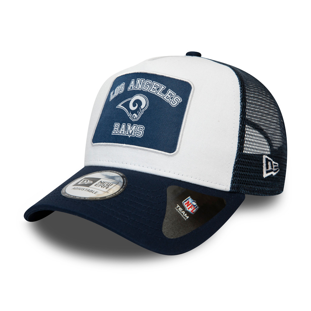 Los Angeles Rams Graphic Patch White A-Frame Trucker